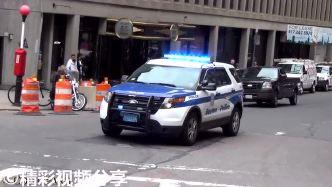 实拍?#22909;?#22269;警车装上低频警报器后,声音太刺激了汽车都?#36861;?#35753;道!