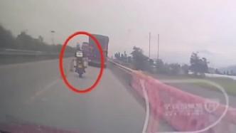 意外还是命中注定,男子超车付出生命代价,监控拍下他生命最后5秒