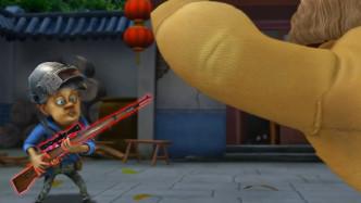 四川方言爆笑:强哥手持98K大战狗熊,配音幽默让你笑场!