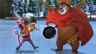熊出没四川话:熊大熊二吃鸡遇到光头强开外挂,笑了还想笑!