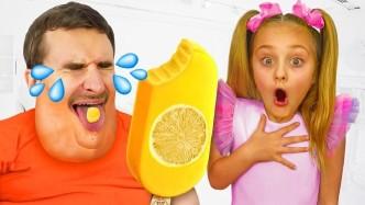 爸爸吃多了垃圾食品,变成一个大胖子,在女儿的监督下才算恢复了健康!
