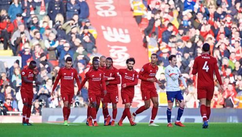 【集锦】利物浦3-0胜伯恩茅斯登顶 维纳尔杜姆吊射萨拉赫破门