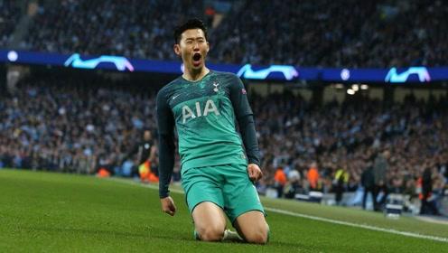 亚洲球星最爱的对手!孙兴慜对阵曼城全进球:欧冠三球打崩蓝月