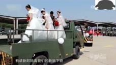 感人!祖国战机勇士飞行员远征前的集体婚礼!