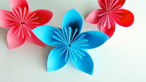 创意手工diy,制作立体装饰纸花,折纸剪纸艺术