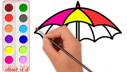 儿童简笔画 我的小花伞