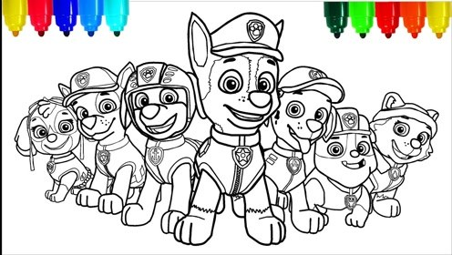 趣味简笔画:画可爱卡通狗狗