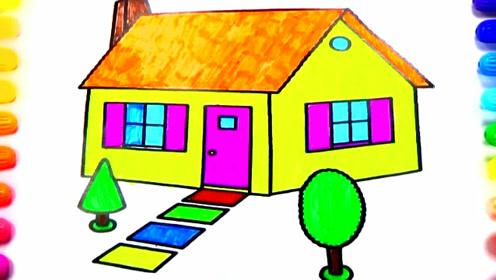 亲子简笔画:漂亮的房子画画