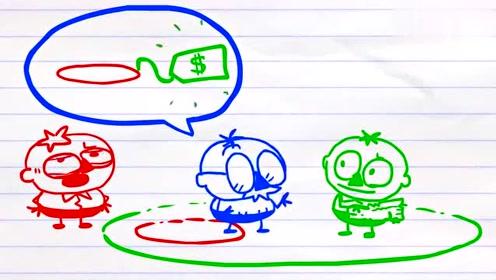 搞笑创意铅笔动画:苹果树的故事
