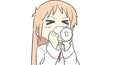 正在喝水的卡通小女孩儿童卡通简笔画图片