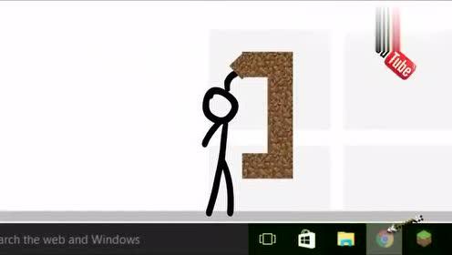 火柴人游戏动画:旋转宝剑挡飞箭,这操作玩的真溜!