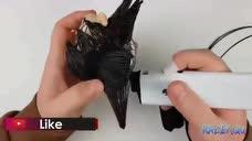 设计师用3D打印笔制作了一个悟空,还顺便帮他做了根如意棒