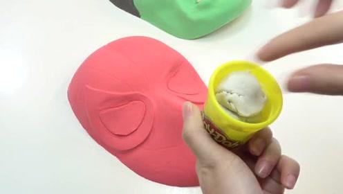 外国diy手工达人,教你用彩色粘土制作漂亮的蜘蛛侠面具