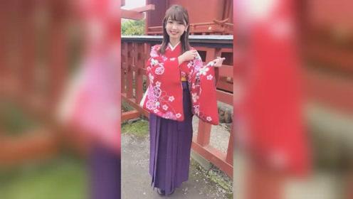 日本清水寺旅游景区的和服小姐姐
