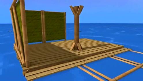 我的世界搞笑在mc里面玩木筏求生,会发生什么有