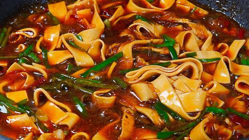 豆皮和粉条最好吃的做法,简单做一锅,鲜香美味,上桌汤汁都不剩