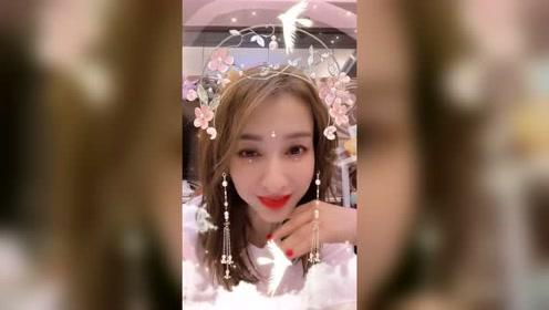 吴昕的粉色仙女造型,不要太美吧