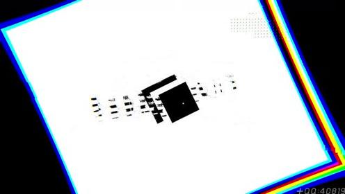 脉冲黑白 失真图形 数码科技视频片头素材制作ZJ222