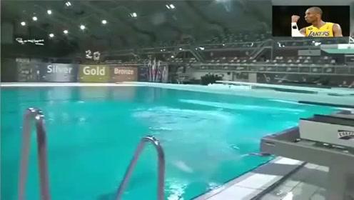 荷兰美女跳水失误,慢镜头回放,落水的一幕有些尴尬了