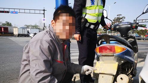 果然视频|小马拉大车?二轮摩托车套用三轮车号牌被当场揭穿!