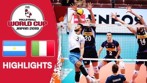 比赛集锦:男排世界杯第三轮,意大利男排大逆转阿根廷男排