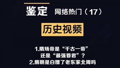 网络热门历史视频鉴定(17)隋炀帝是千古一帝?