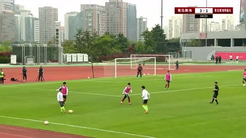 【回放】足球友谊赛:青岛黄海一队vs青岛黄海预备队 下半场
