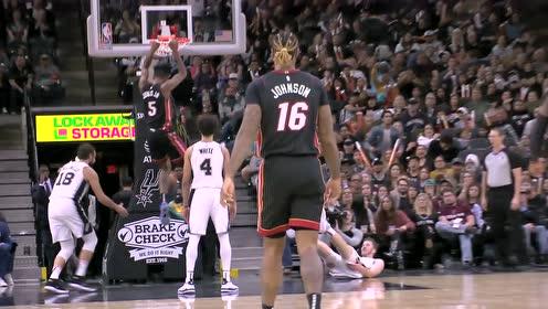20日NBA最佳扣篮 琼斯制霸禁区死亡隔扣珀尔特尔