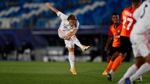 天降魔笛!莫德里奇暴力远射当选欧冠首轮最佳进球
