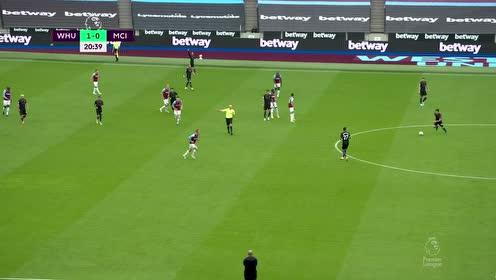【回放】20/21英超第6轮:西汉姆联vs曼城 上半场