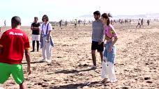 《旅途的花样》花絮:花花玩转热力沙滩足球