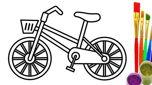 立体自行车简笔画