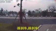 这可能是史上最刺激的学车视频,教练狂喊:刹车!
