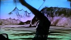 山水广西:   沙画艺术《大地飞歌》