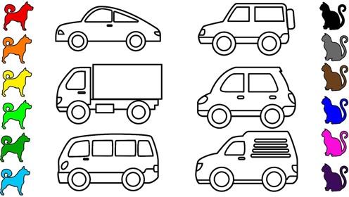 小汽车幼儿园简笔画