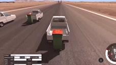BeamNG车祸模拟器,用各种车冲破流星锤阻挡,为什么都是前盖被掀