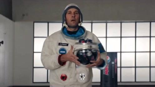 「搞笑可乐广告」火箭发射倒计时,宇航员忘了