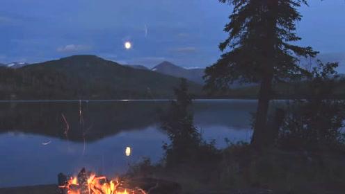 催眠睡眠音乐,一堆火,一面湖,伴着悠扬的笛