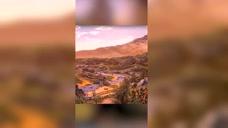 白鹿村的日落黄昏