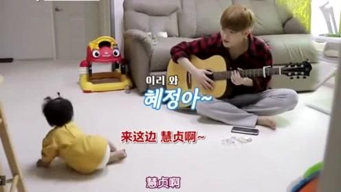 陈华弹吉他唱歌,女儿看了就想跑,陈华觉得很