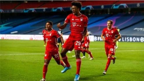欧冠B组第2轮:托特纳姆2-7拜仁慕尼 莱万超梅西连续9场轰14球