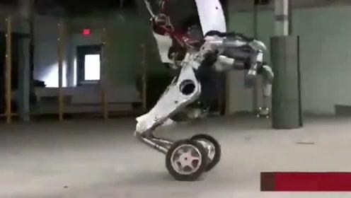 运动能力超强的机器人,看着和人类还是有很大的差距的,不过运动能力不低