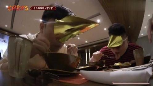 《新西游记5》姜虎东戴高帽吃早餐的样子,太搞笑了哈!