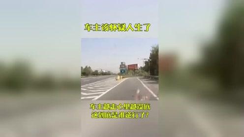 车主越走心里越没底,这到底是他们逆行,还是视频车走错路了?