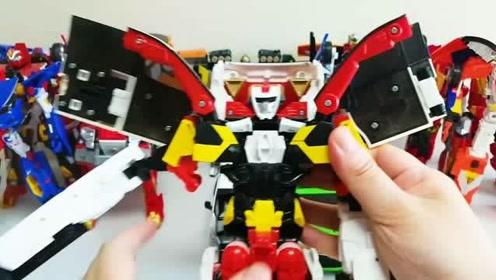 彩色机器人还原汽车玩具