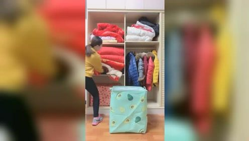 衣柜小,棉被棉服多,用视频同款巨能装收纳袋,你的衣柜更整洁能装收纳袋,你的衣柜更整洁