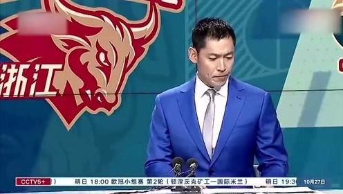 张庆鹏CBA解说首秀,第一次有点紧张,旁边杨健明显沧桑