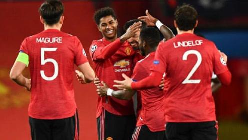 欧冠-拉什福德替补戴帽,马夏尔传射,曼联5-0大胜莱比锡