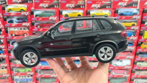 宝马汽车模型玩具拆箱
