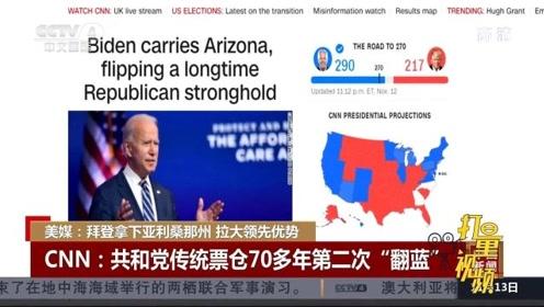 美媒:拜登拿下亚利桑那州,拉大领先优势